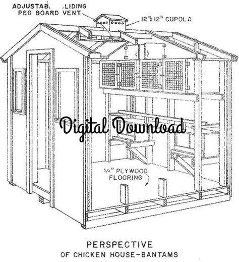 pigeon house plans chicken pigeon coop blueprints hen house nest boxes vintage