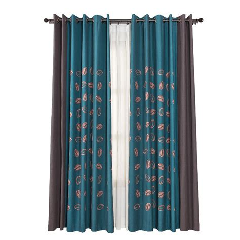 Teal Patterned Curtains Best Teal Patterned Cotton And Linen Vintage Luxury Curtains