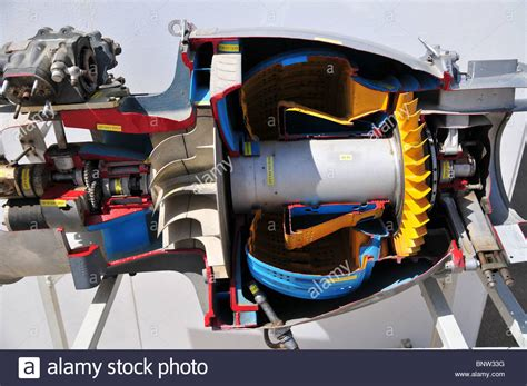 Jet Engine Cross Section by Cross Section Of A Jet Engine Stock Photo Royalty Free