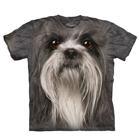 shih tzu shirts the mountain human t shirt shih tzu baxterboo