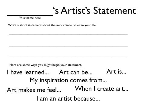 artist statement template artist statements dryden