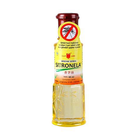 Minyak Sereh 60 Ml jual caplang sitronela st minyak sereh 60 ml harga kualitas terjamin blibli