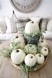 white pumpkin decorations 34 chic neutral fall d 233 cor ideas you ll like digsdigs