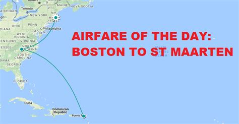 airfare of the day american airlines economy class boston to st maarten usd 263 loyaltylobby