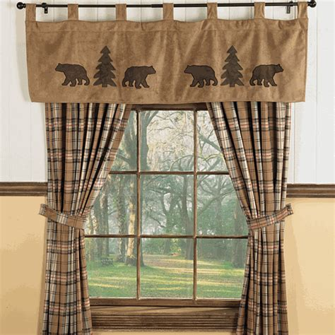 Curtains With Bears On Them Trees Valance
