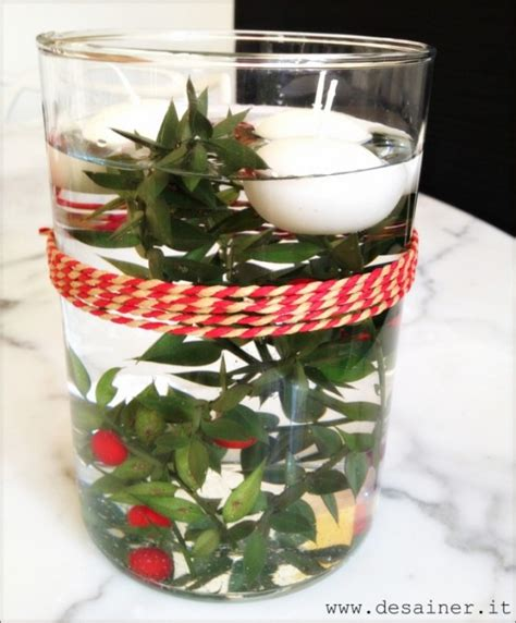 centrotavola candele galleggianti centrotavola natalizio con candele galleggianti