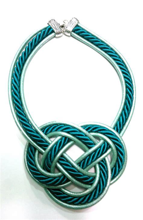 nudos de collares collar de cuero con cordon con forma de nudo disponible en