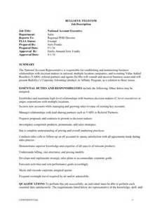 finance executive resume national account executive job description