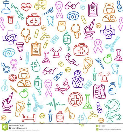 cute medical pattern hand drawn medical seamless pattern vector illustration