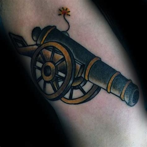 loose cannon tattoo 40 cannon designs for explosive ink ideas