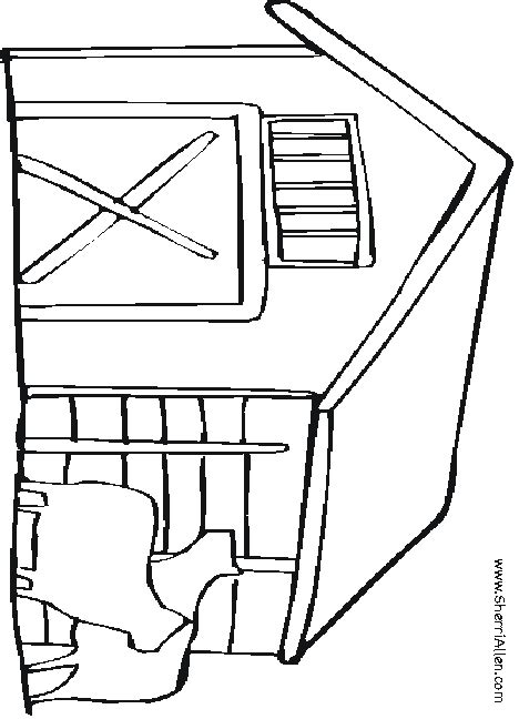 free coloring pages of gate in the farm