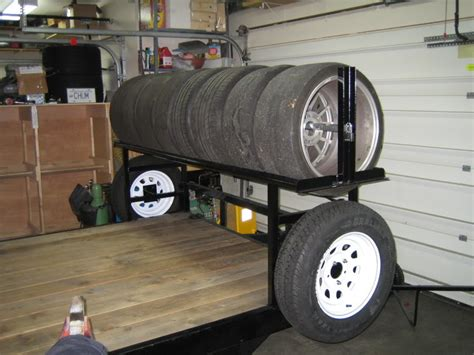 Tire Rack Trailer Tires by Adding A Tire Rack To A Flat Steel Trailer Rennlist Porsche Discussion Forums