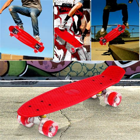 Skateboard Bananaboard Pennyboard Fishboard Roda Pu skateboard fish cruiser mini banana deck complete board retro style au ebay