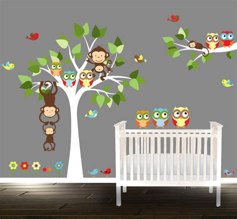 Owl Wall Decals For Nursery Owl Wall Decal Nursery Tree Wall Stickers Owl Tree Wall