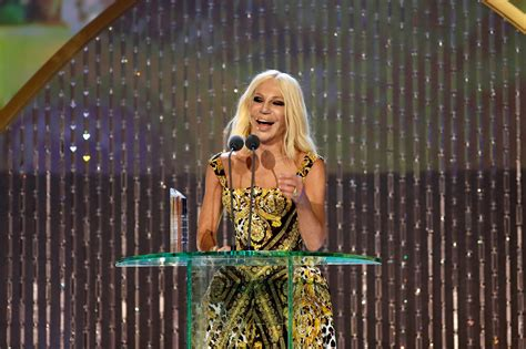 Donatella Versace by Donatella Versace On Why She Misses Late