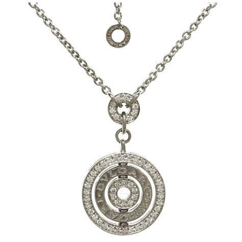bulgari cerchi gold pendant necklace for sale at