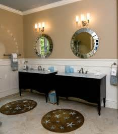 Bead Room Dividers - coastal retreat master bath beach style bathroom raleigh by southern studio interior design