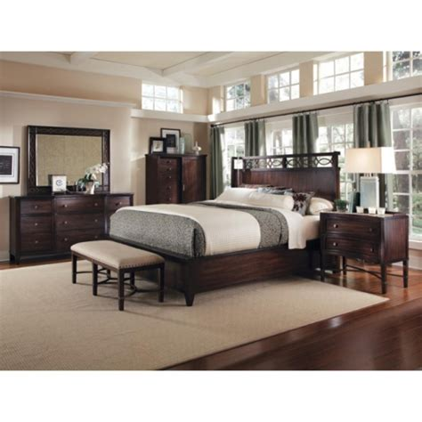 bedroom set king size intrigue shelter 5 piece king size bedroom set by a r t