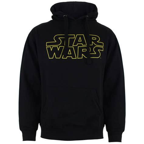 wars s basic logo hoody black merchandise zavvi