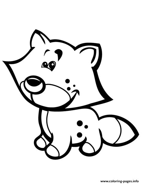 cute coloring pages for preschoolers cute baby fox for preschool children coloring pages printable