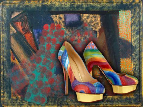 paintings on high heel shoes things