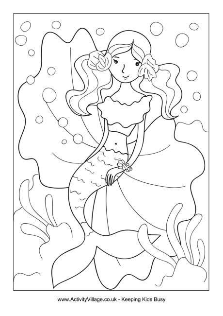 mermaid coloring pages preschool image gallery mermaid activities