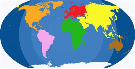 image of world map with continents continents voyages cartes