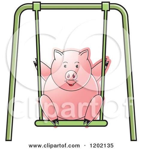 pig on a swing royalty free vector clip art illustration of two sinhala