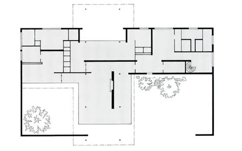 Mies Van Der Rohe Brick House Plan House Plans