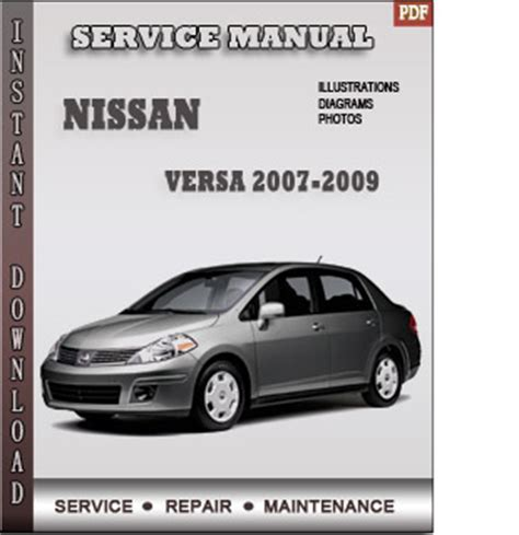 2007 2009 nissan versa service repair manual