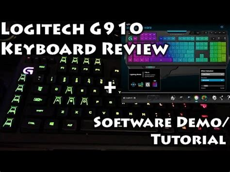 tutorial for logitech keyboard logitech g910 orion spectrum review with sound test doovi