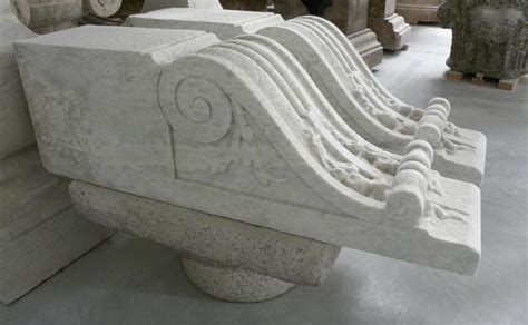 mensole marmo coppia di mensole in marmo antiquariato su anticoantico