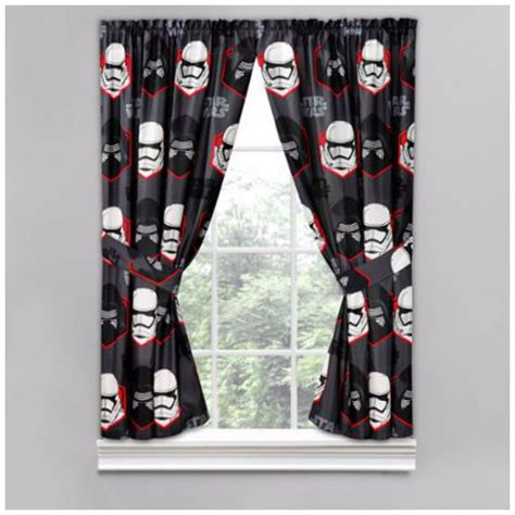 Curtain window panel drapes kids room star wars curtains boys drape bedroom new ebay
