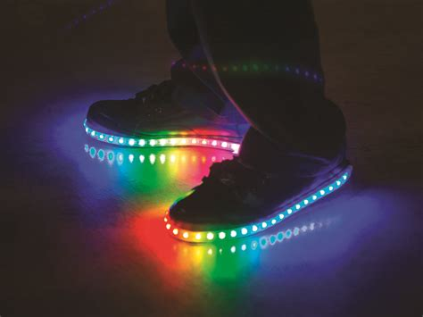 white light up shoes luminous lowtops childhood lights and rainbows