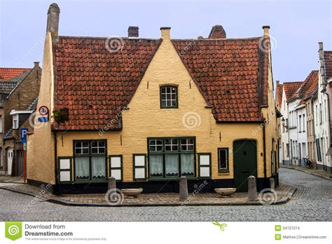 belgium houses old house in bruges editorial stock image image 34727274