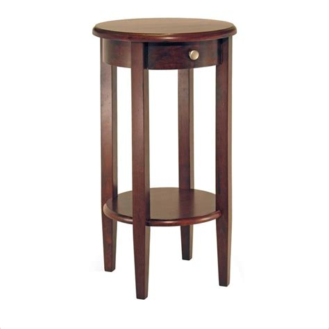tall accent table winsome concord round tall end table ebay