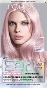 loreal pink hair color l oreal hair color feria pastels dye smokey pink p2