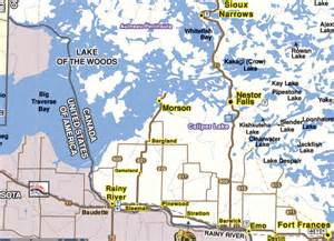 lake of the woods canada map location access ontario walleye fishing muskie fishing