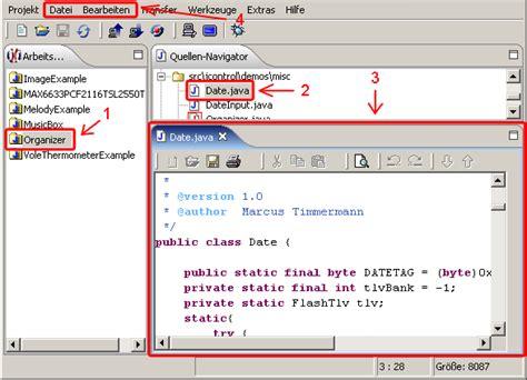 java tutorial text editor jcontrol ide quelltext dateien bearbeiten