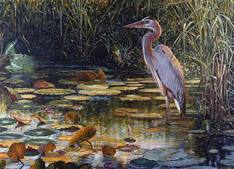 free painting lesson learn how to paint a blue heron in acrylics