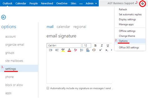Office 365 Portal Signature How To Add Picture Signatures To Office 365 And Exchange