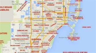 Map Of Miami by This Judgy Miami Map Will Offend Pretty Much Everyone