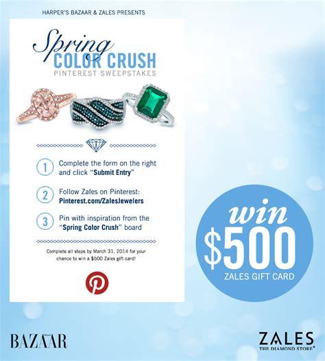 Harper S Bazaar Sweepstakes - zales harper s bazaar win 500 gift card giveaway giveawayus com