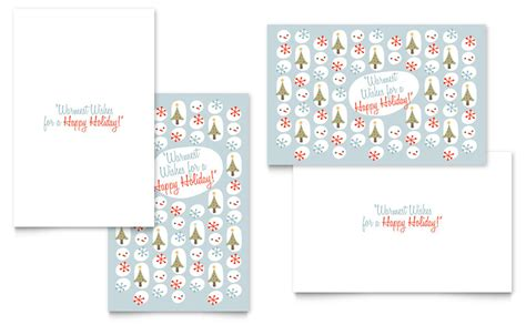greeting card template word template