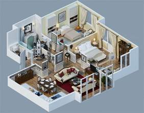 3d floorplans apartment designs shown with rendered 3d floor plans