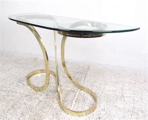 modern brass table l contemporary modern brass infinity console table for sale