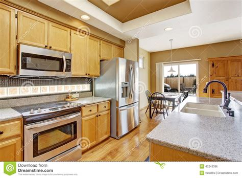 dinning area kitchen room with skylight and dining area stock photo