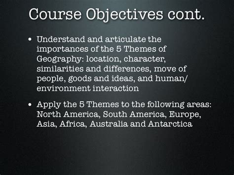 5 themes of geography south america 1 introduction to world geography