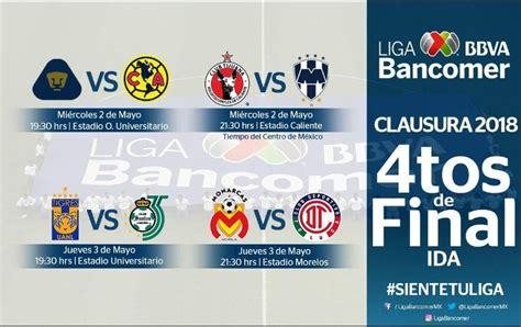 cuartos de final definen horarios y d 237 as de los cuartos de final de la liga