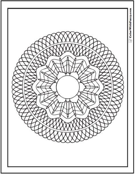 70 Geometric Coloring Pages To Print And Customize Geometric Flower Coloring Pages